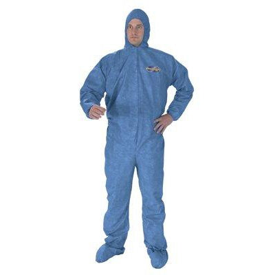 Kimberly-Clark KleenGuard A60 Chemical Splash Coveralls w/ Hood & Boots 24/Case - 45092