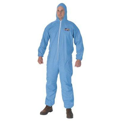 Kimberly-Clark KleenGuard A65 FR Coveralls w/ Elastic Wrists, Ankles, Hood & Boots Medium 25/Case - 45352