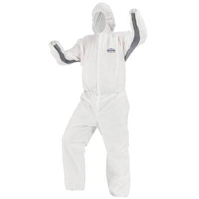 Kimberly-Clark KleenGuard A30 Stretch Coveralls Elastic with Hood & Boots - 46172