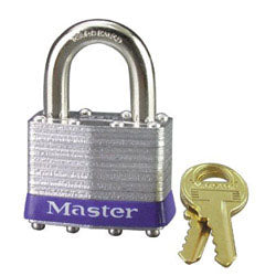 "Master Lock - Carded Laminated Padlock 4 Pin Keyed Different 3/4"" Shackle 4/Box - 3D"