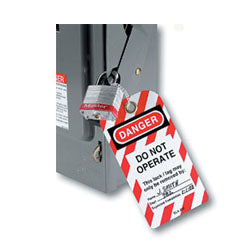 Master Lock - Do Not Operate Safety Tags w/ Grommet and Ties 12/bag - 497A