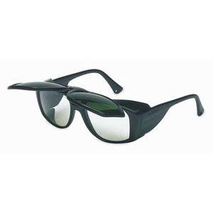 Sperian - Uvex Horizon Flip-up Safety Glasses - Black Frame / Clear Shade 5.0 Lens - S213