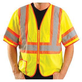 OccuNomix - ANSI Class 3 Two-Tone Half-Sleeve Mesh High Visibility Safety Vest - Yellow - 561-LUX-HSCLC3Z