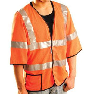 OccuNomix ANSI Class 3 Short Sleeve Cool Mesh High Visibility Safety Vest - LUX-HSCOOL3