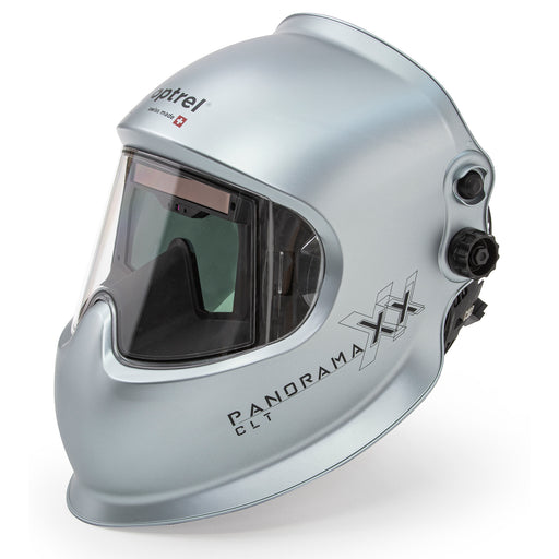The Optrel Panoramaxx with Crystal Lens Technology in a matte silver shell