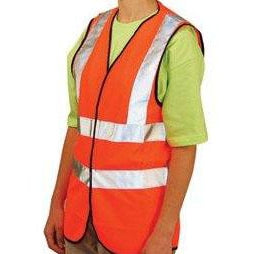 OccuNomix ANSI Class 2 Standard High Visibility Safety Vest Orange - LUX-SSFULLG-O