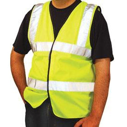 OccuNomix ANSI Class 2 Standard High Visibility Safety Vest Yellow - LUX-SSFULLG-Y