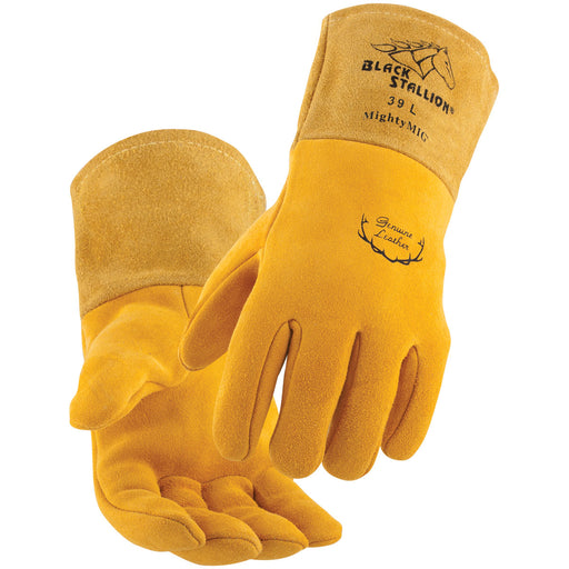 Black Stallion Mighty MIG Welding Gloves Premium Grain Deerskin - 39