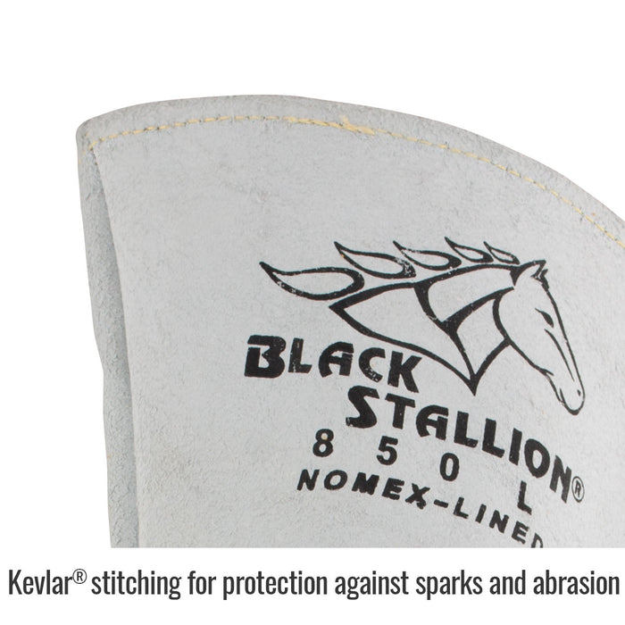 Black Stallion Premium Grain Elkskin Stick Glove w/ Nomex Back - 850