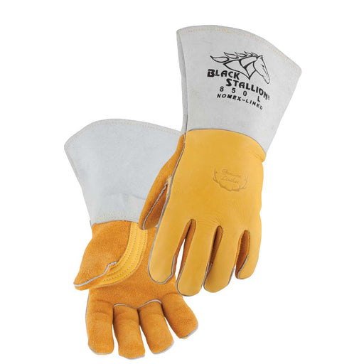 Black Stallion Premium Grain Elkskin Stick Glove - Nomex Back - 850
