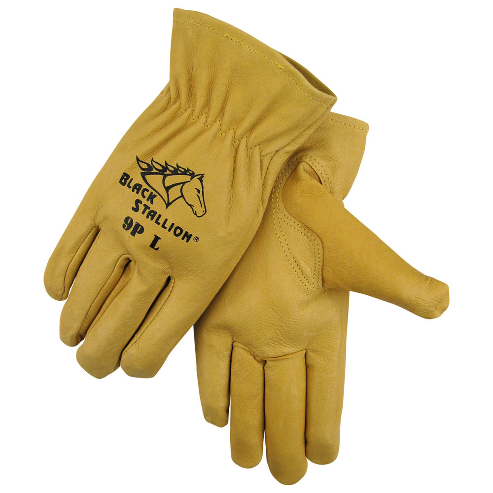 Black Stallion Quality Grain Pigskin Driving Gloves - 9P