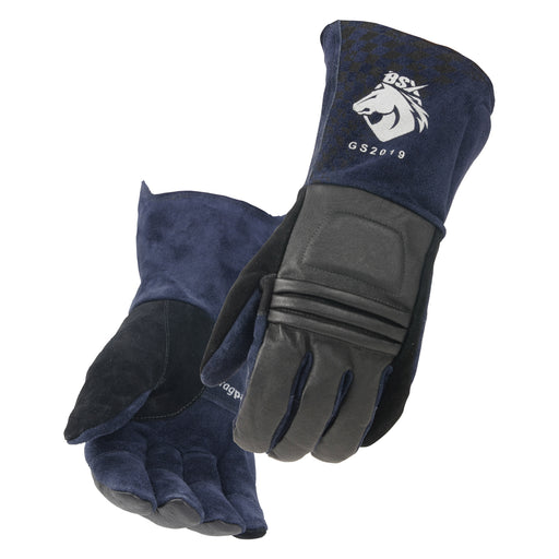 Black Stallion Grain Pigskin & Split Cowhide Stick Glove - GS2019-NB