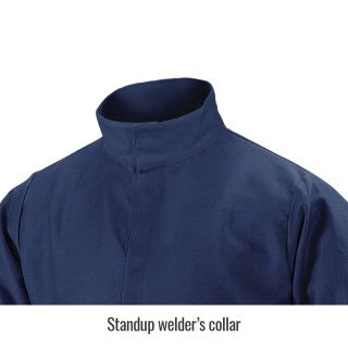 Black Stallion Welding Jacket - Premium Lenzing FR Navy - JF4520-NV