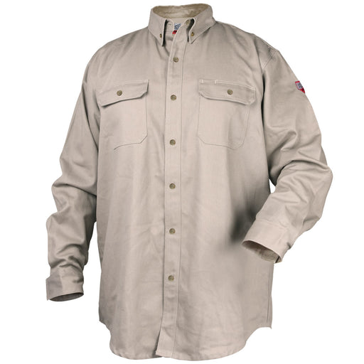 Black Stallion TruGuard 300 FR Work Shirt, Stone - WF2110-ST