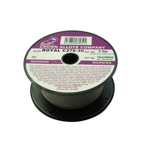 Crown Alloys ROYAL C276-30 .045x2# MIG Wire 2lb Spool - RSC276/1G