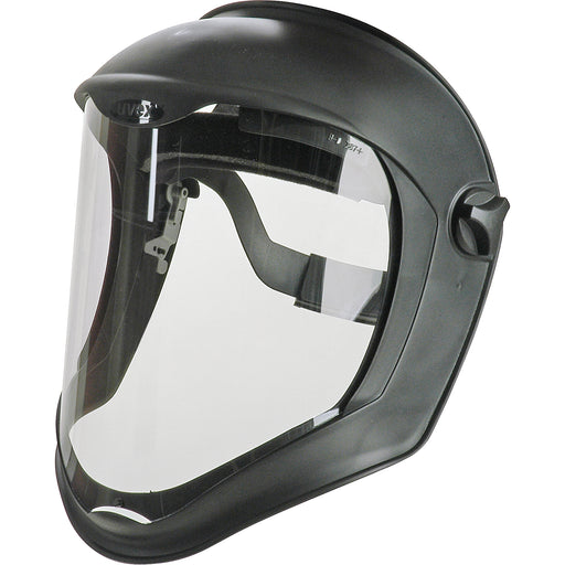 Uvex Bionic Face Shield, Uncoated, Clear/Black Matte - S8500
