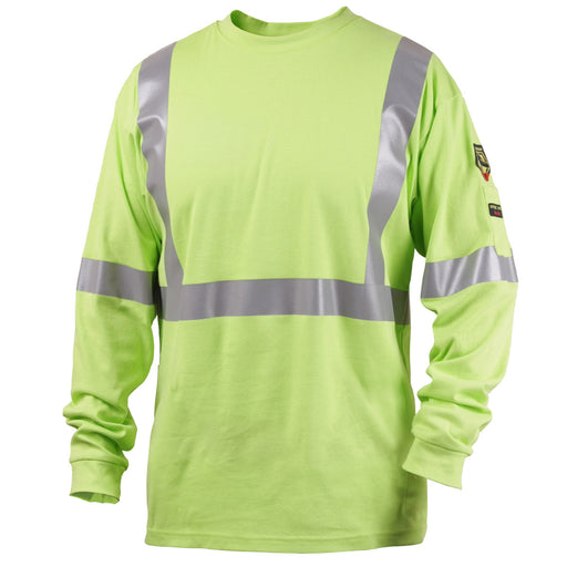 Black Stallion FR Cotton Hi-Vis Shirt w/ Reflective Stripes - TF2511