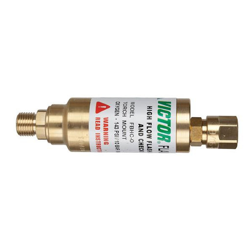 Victor FBHC High Flow Regulator Mount Flashback Arrestor- Oxygen