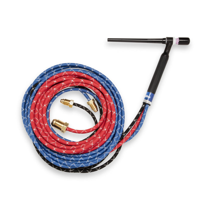 Weldcraft W-250 Braided Rubber, 25 ft, Acc., Torch Pkg - WP2025RM