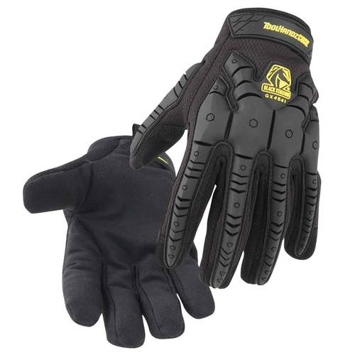 Black Stallion ToolHandz Core Synthetic Leather Palm TPR Impact Mechanic's Gloves- GX4541-BK