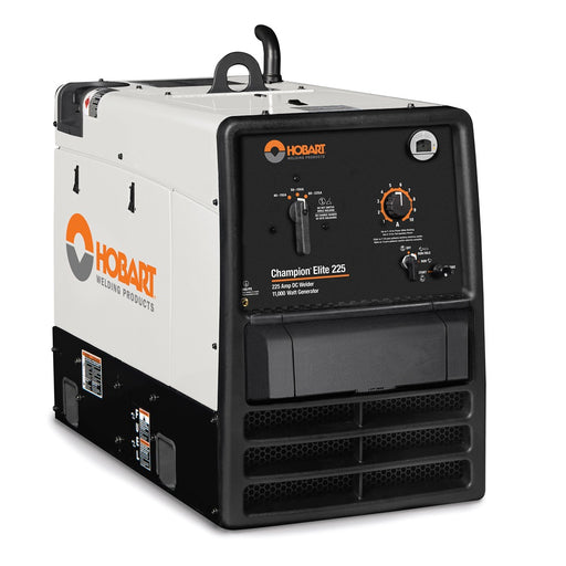 Hobart Champion Elite 225 Welder Generator shown from the front with control knobs