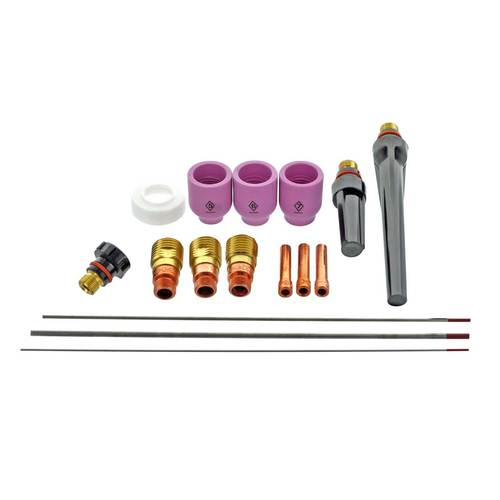 CK Worldwide Stubby Gas Lens Accessory Kit for Low Amperage - SGL-KIT