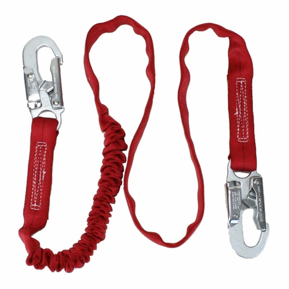 DBI Sala PRO Stretch Shock Absorbing Lanyard w/ Rebar Hook Connections, 6 ft - 4750-0241