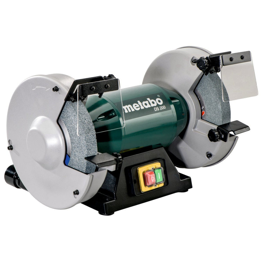 "Metabo DS 200 8"" Bench Grinder angled view"