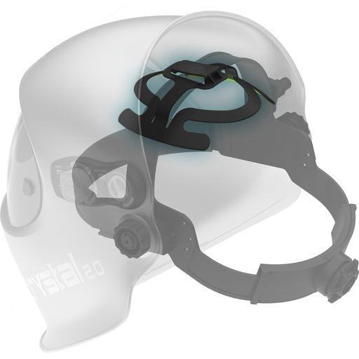 Optrel Headgear Halo in an Optrel Crystal 2.0 Helmet