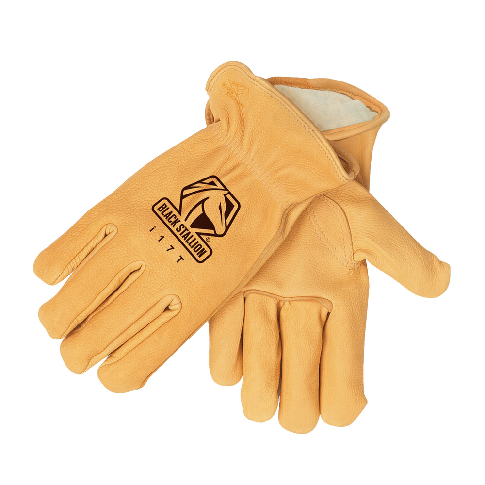 Black Stallion i17T - Deerskin Thinsulate Lined Driving Gloves - i17T