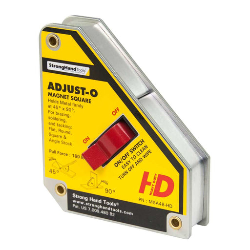 Strong Hand Heavy-Duty Large Adjust-O Magnet Square - MSA48-HD