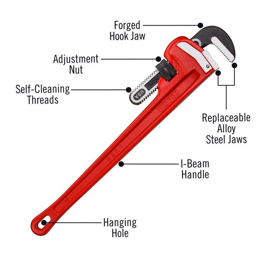 "Ridgid Straight Pipe Wrench 24"" - 31030"