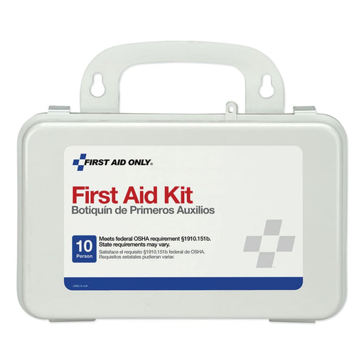 First Aid Only 10 Person Weatherproof First Aid Kit w/ Wall Mount - 6410