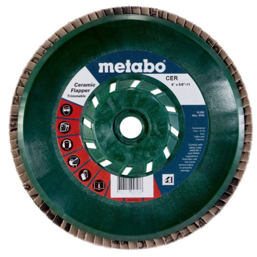 "Metabo Ceramic Trimmable Flapper, Type 29, 5/8-11"" Arbor, 5/pk"