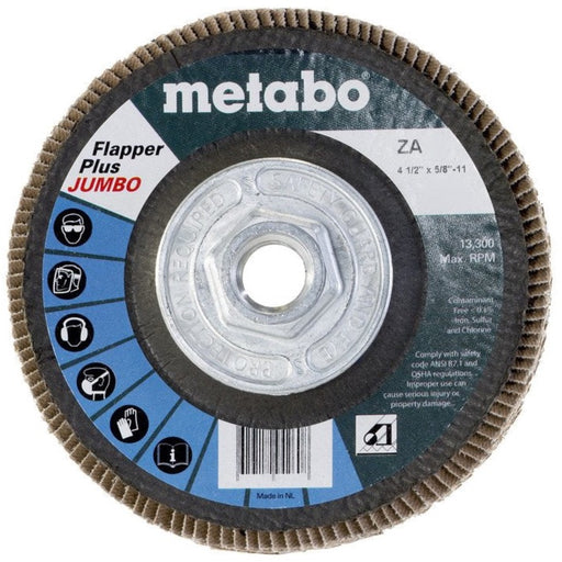 "Metabo Flapper Plus Jumbo Flap Discs, 4.5"", Type 29, 5/pk"