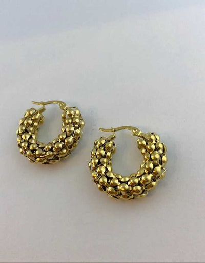 Florence Pebble Hoop Earrings Small