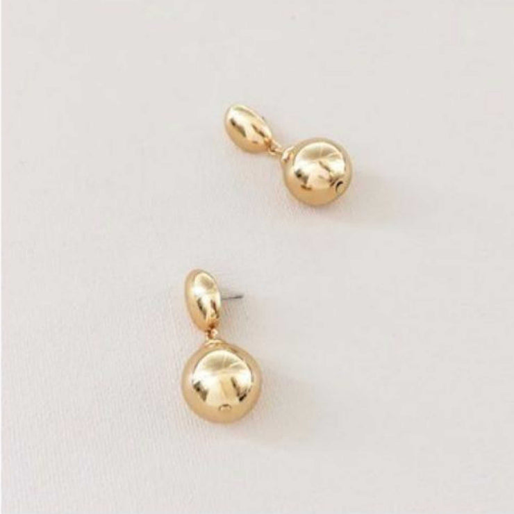 Adorne - Metal Ball Drop Stud Earrings