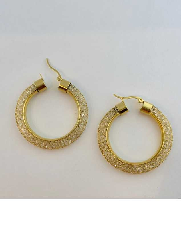 Paris Mesh Hoop Earrings