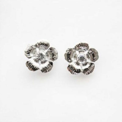 Adorne - Jewel Centre Flower Stud Earrings