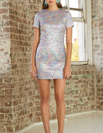 By Johnny - Confetti Tweed Tee Mini Dress