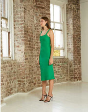 By Johnny - Emerald Crimp Midi Dress