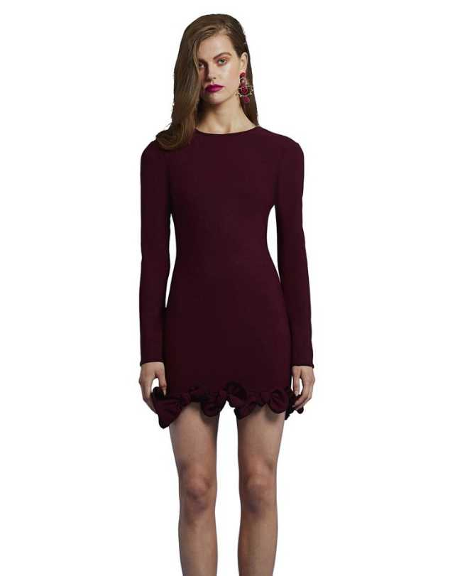 By Johnny - Sleeved Plum Mini Dress