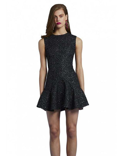 By Johnny - Star Tweed V Flare Mini Dress