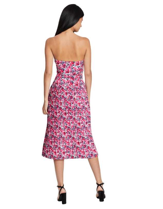 By Johnny - Strapless Pleat Midi Dress