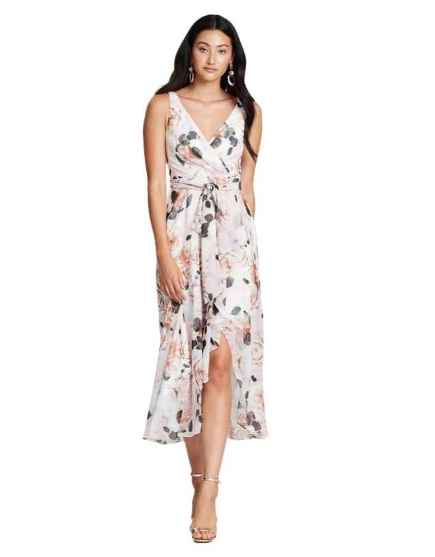Montique - Rosie Print Chiffon Dress