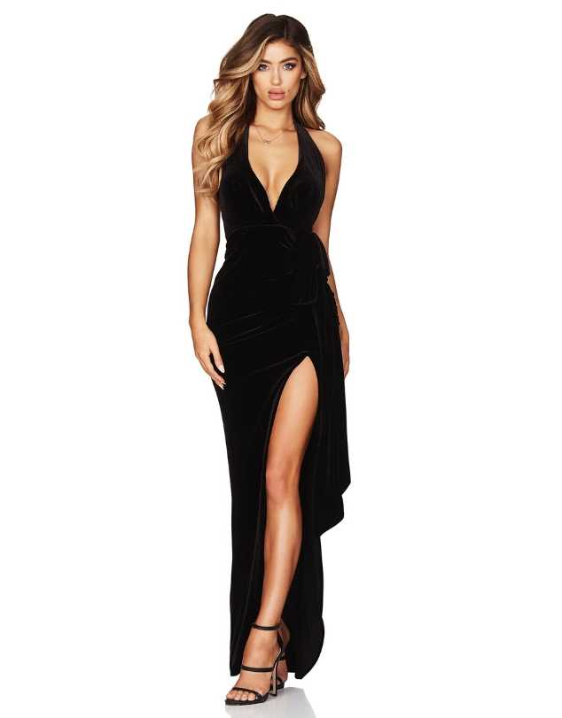 Nookie - Vixen Velvet Gown, Black