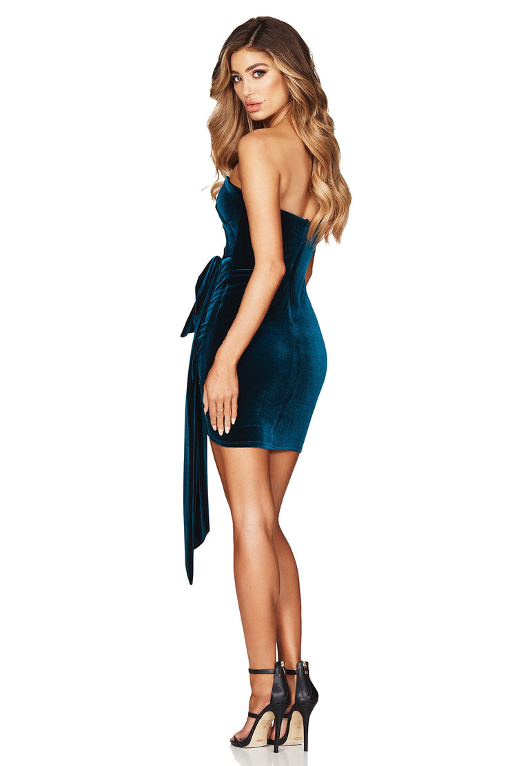 Nookie - Vixen Velvet Mini Dress, Teal