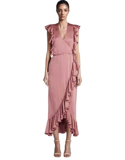 Shona Joy - Ruffle Wrap Midi Dress