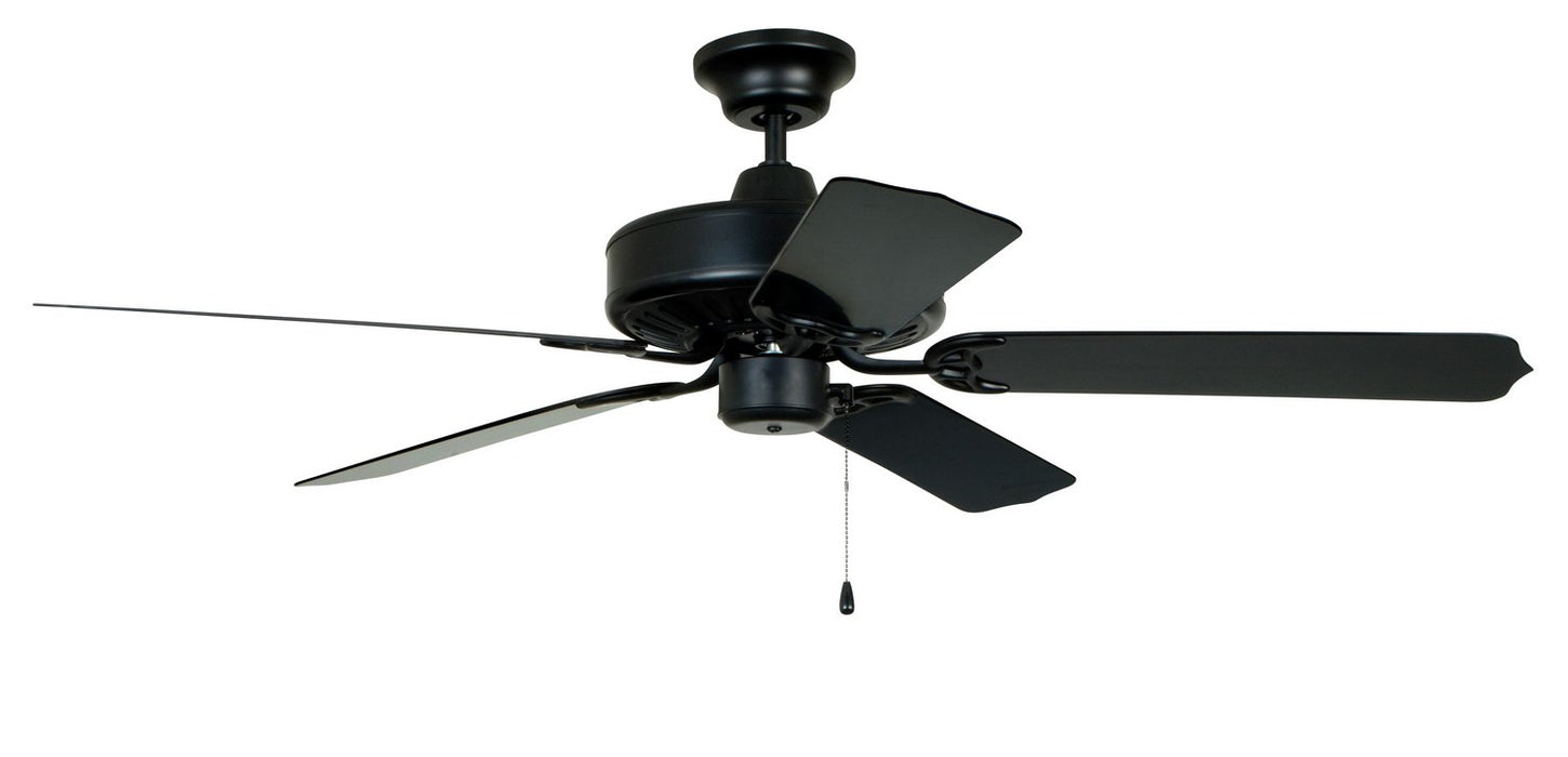 "Craftmade END52MBK5P 52"" Ceiling Fan with Blades Included - Cove Harbor in Matte Black"