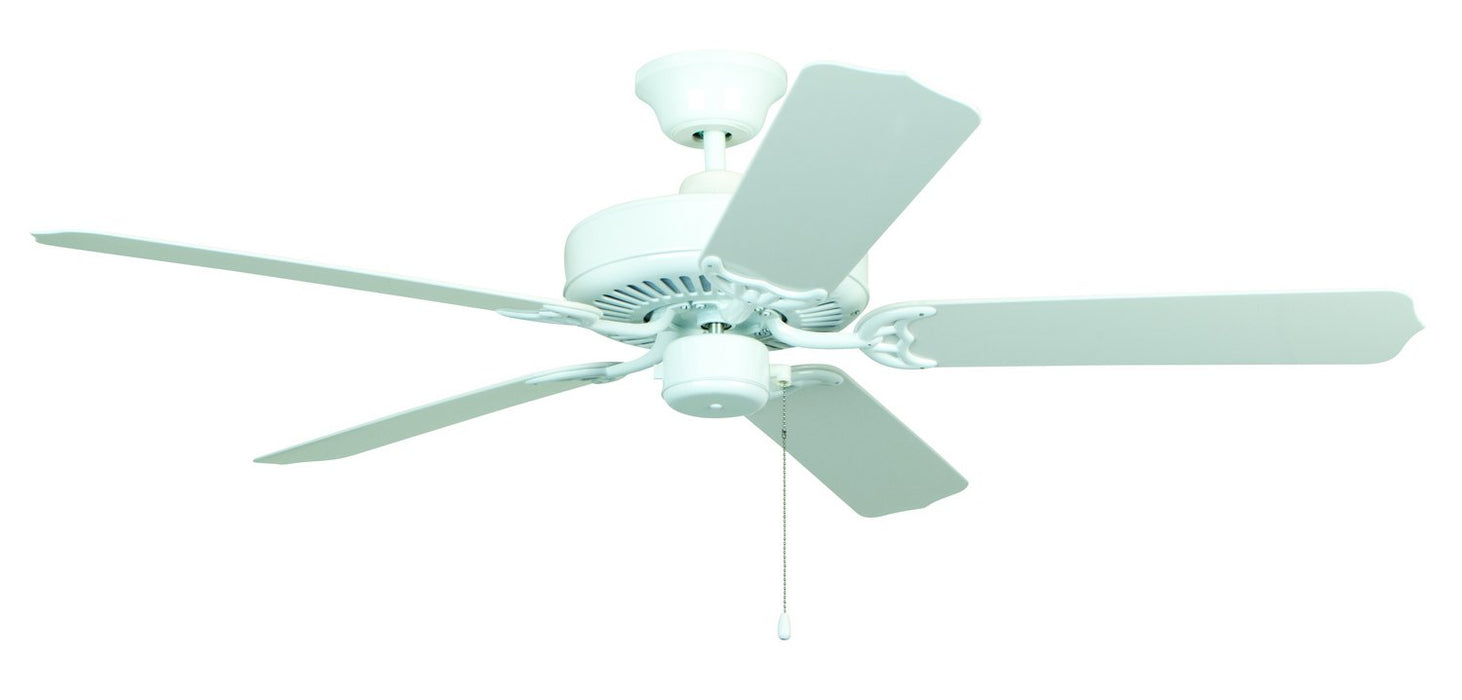 "Craftmade END52WW5X 52"" Ceiling Fan with Blades Included - All-Weather in White"